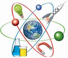 Atom with Science Images